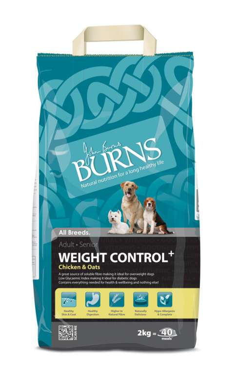 Burns Weight Control+ mit Huhn & Hafer 2 kg, 15 kg