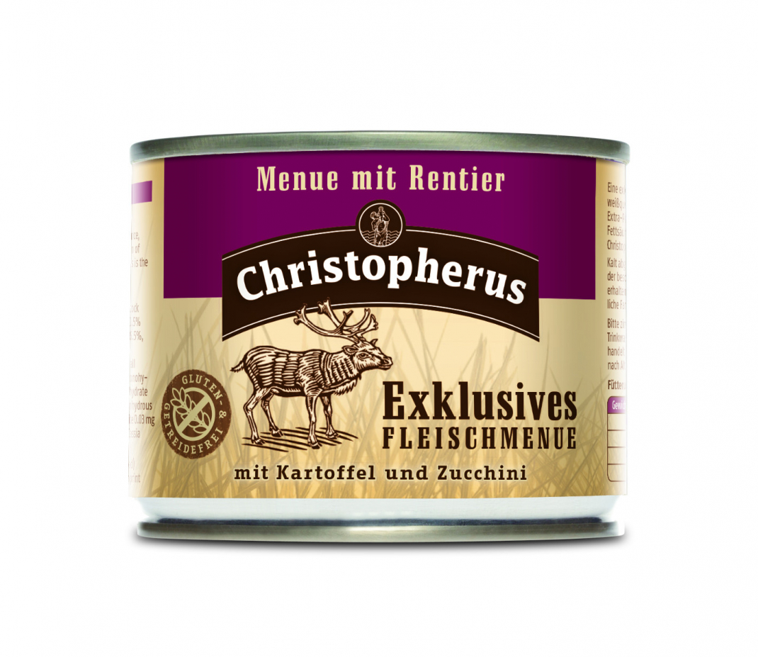 Christopherus Exclusive Meat Menu - Reindeer, Potato and Zucchini Can 200 g