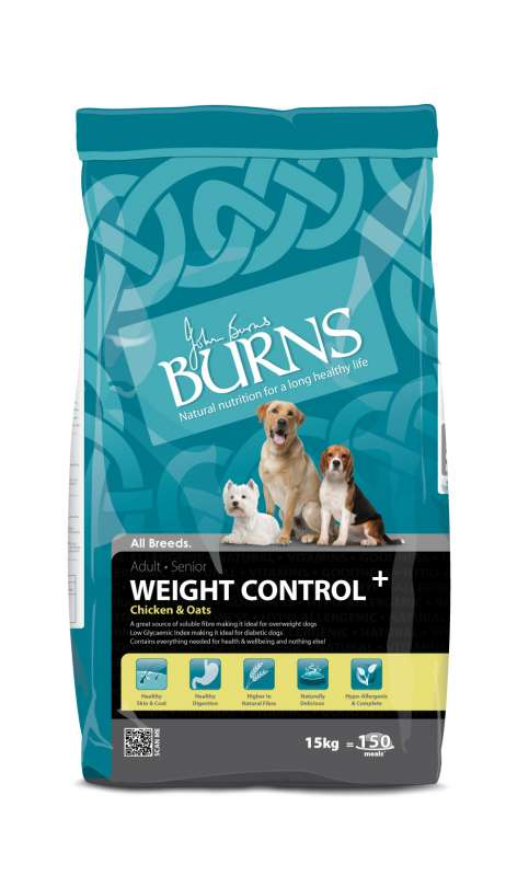 Burns Weight Control+ mit Huhn & Hafer 5060084770294