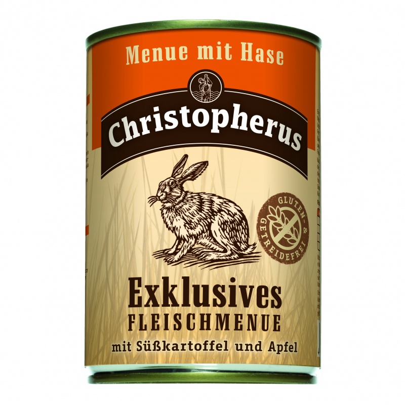 Christopherus Exclusive Meat Menu - Rabbit, Sweet potato and Apple Can 400 g