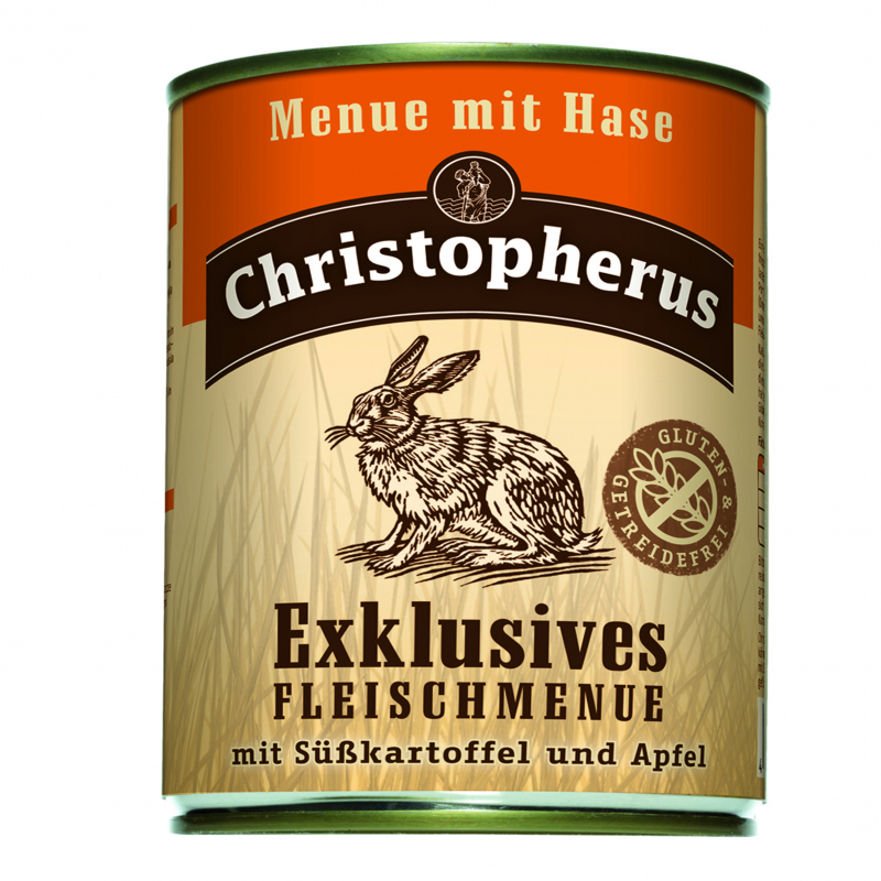 Christopherus Exclusive Meat Menu - Rabbit, Sweet potato and Apple Can 800 g