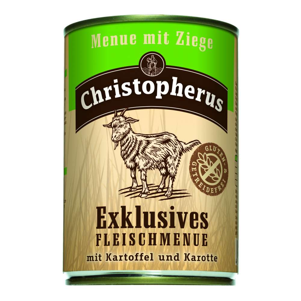Christopherus Exclusive Meat Menu - Goat meat, Potato and Carrots Can 400 g