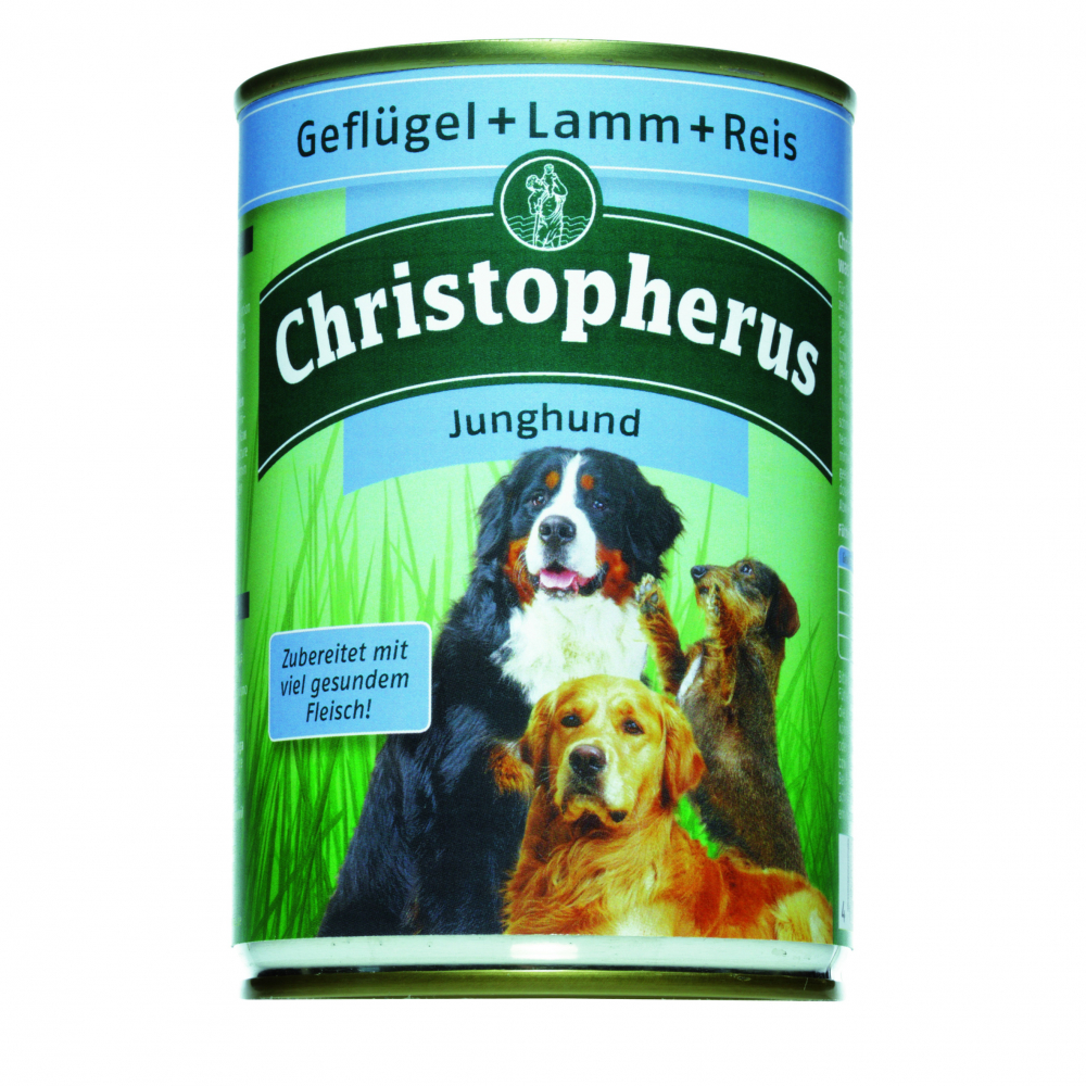 Christopherus Junior – Poultry, Lamb & Rice Can 400 g kjøp billig med rabatt