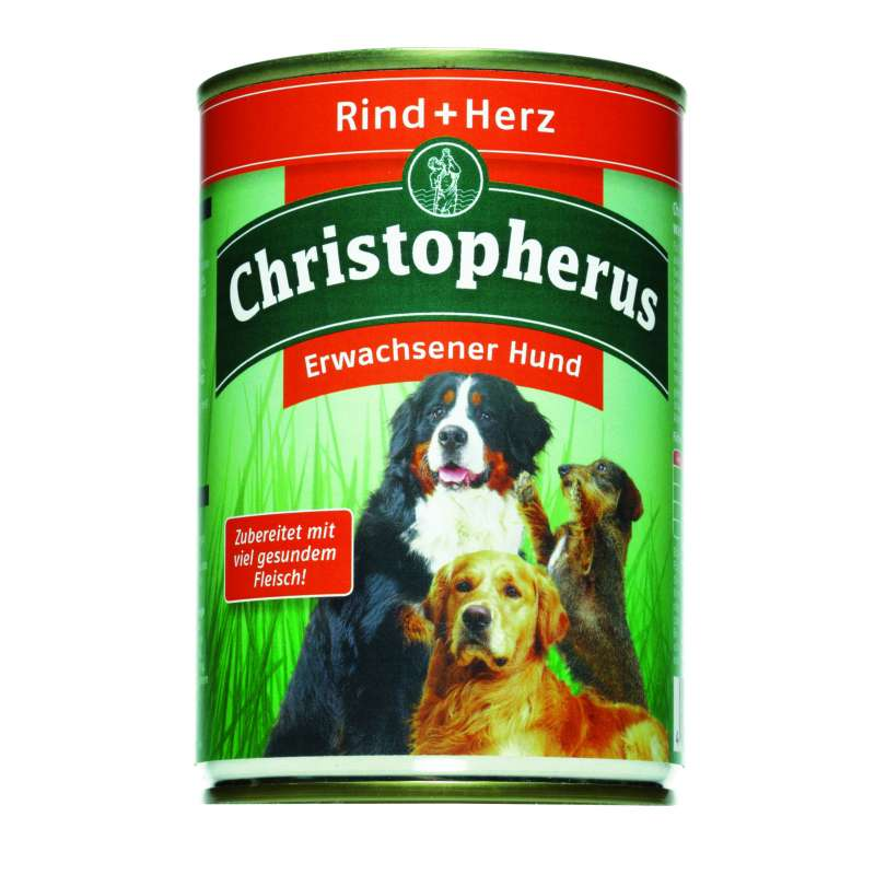 Christopherus Adult Dog – Beef & Heart Can 800 g, 400 g