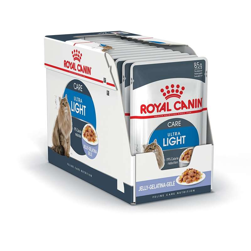Royal Canin Feline Health Nutrition Multipack Ultra Light i Gelé 12x85 g 9003579311806 erfaringer