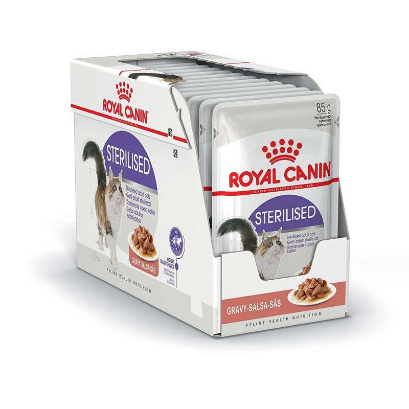 Royal Canin Feline Health Nutrition Multipack Sterilised in Gravy 12x85 g 9003579311295 erfaringer