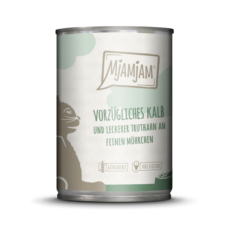 MjAMjAM Exquisite Veal and Turkey with tasty Carrots 400 g