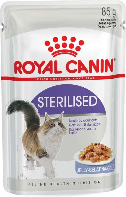 Royal Canin Feline Health Nutrition Sterilised en Gelatina 85 g 9003579311776 opiniones