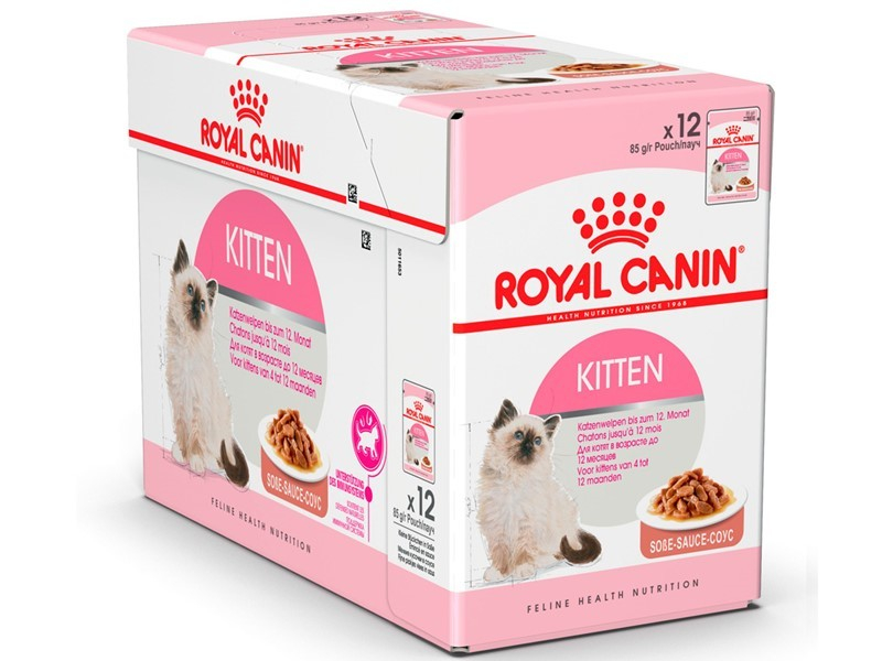 Royal Canin Feline Health Nutrition Multipack Kitten kastikkeessa 12x85 g