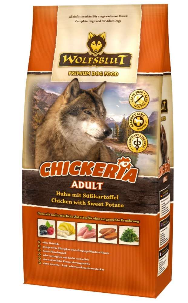 Wolfsblut Chickeria Adult con Pollo y Camote 500 g, 2 kg, 15 kg
