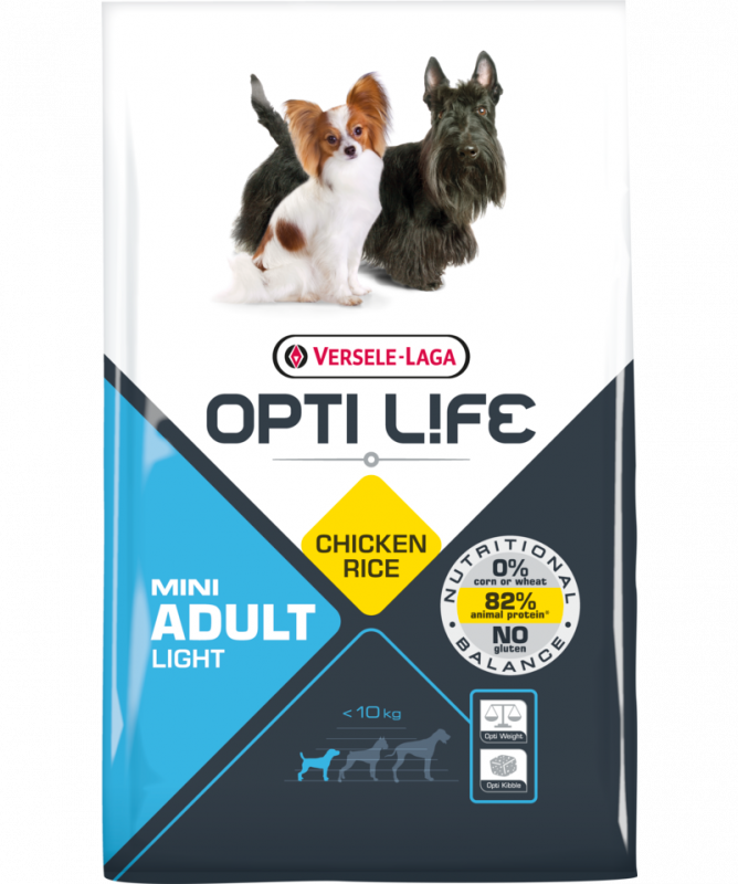 Opti Life Adult Light Mini with Chicken 2.5 kg