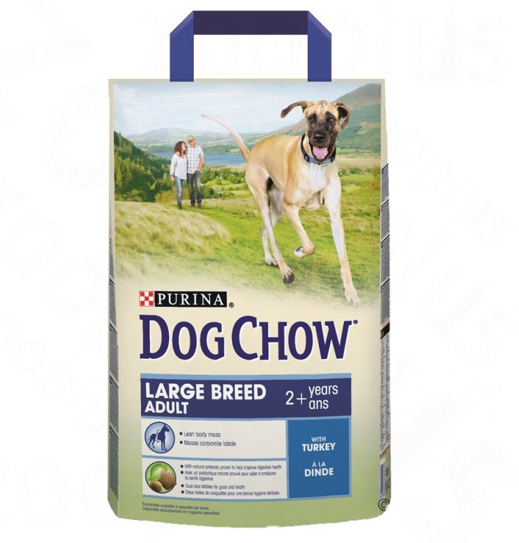 Purina Dog Chow Large Breed Adult con Pavo 2.5 kg, 14 kg