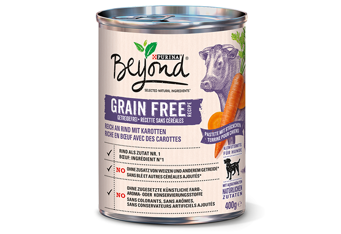 Purina Beyond grain-free rich in Beef with Carrots 400 g 7613036266482 anmeldelser