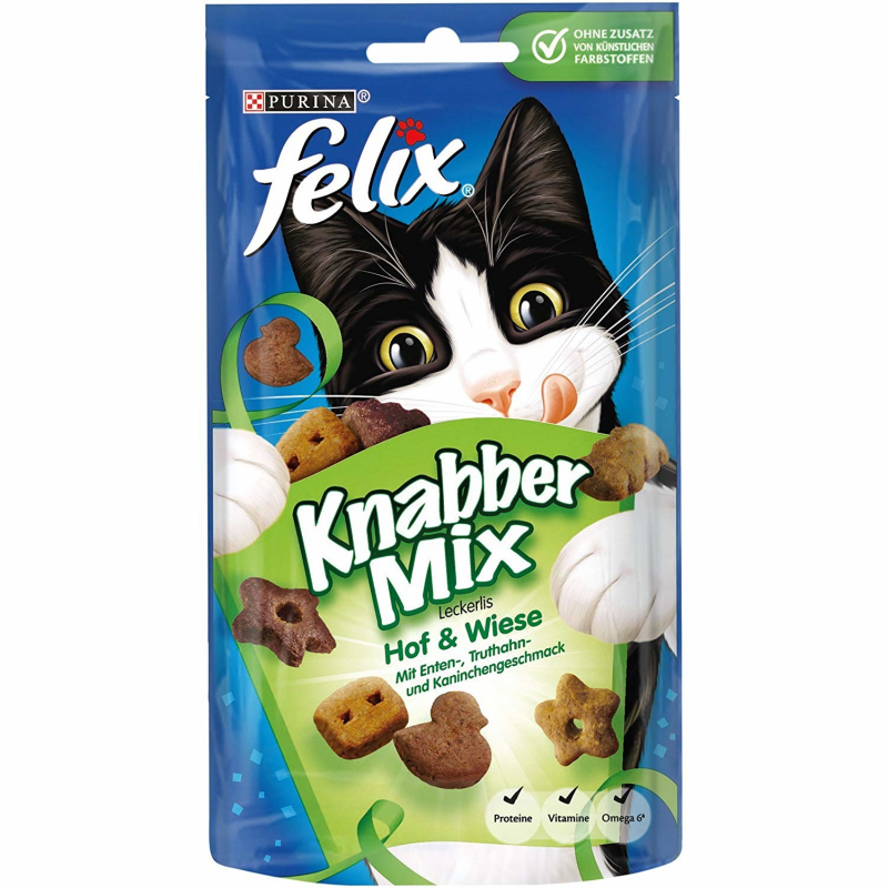Felix Party Mix Countryside Flavour 60 g, 8x60 g test