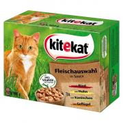 Kitekat Pouches 12 Multipack Meat Selection in Sauce 12x100 g
