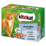 Kitekat Multipack 12 Pouches – Fish Box in sauce