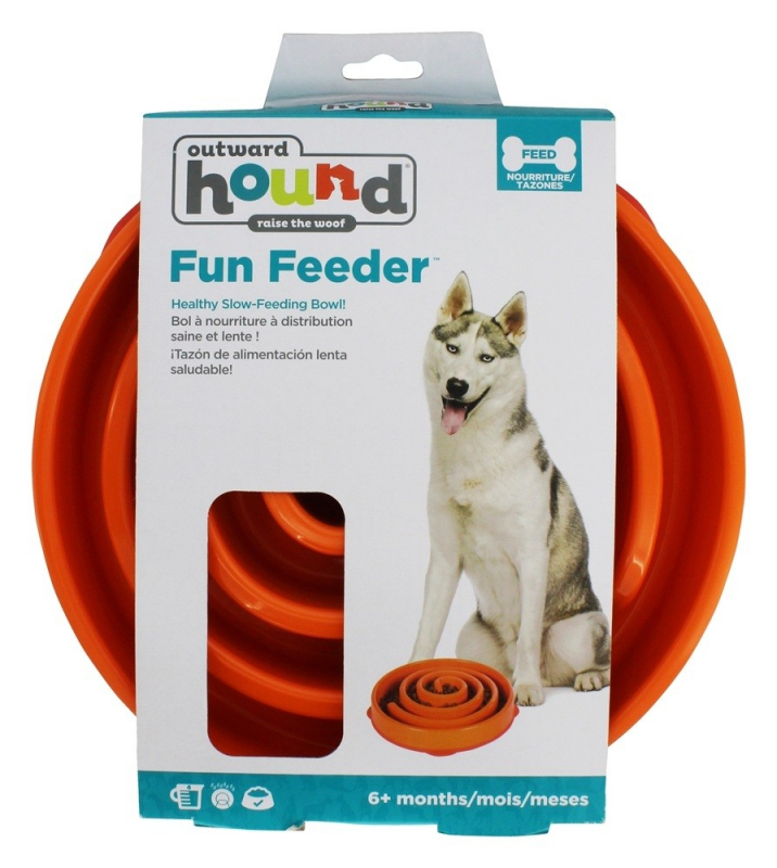 Outward Hound Fun Feeder Orange Regular