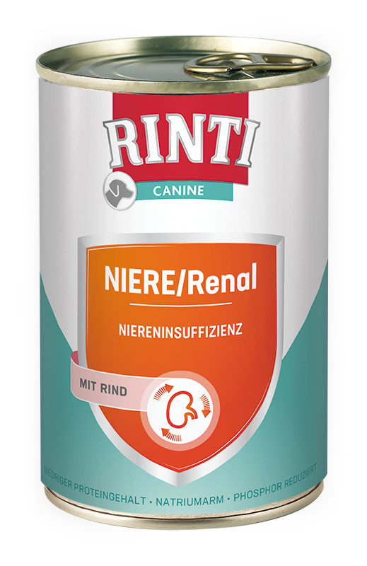 Rinti Canine Kidney with Beef 800 g, 185 g, 400 g