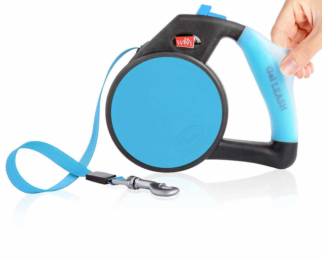 Wigzi Retractable Gel Correa  Azul S