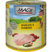 Dog - Poulet & Canneberges 800 g de chez MAC's