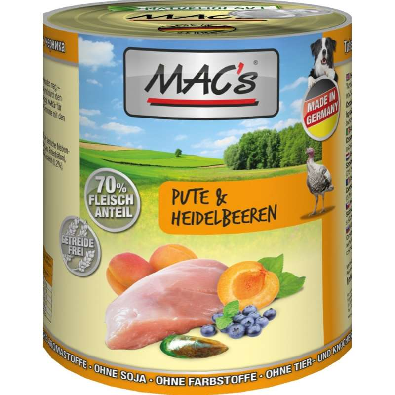 MAC's Dog Turkey & Blueberry EAN: 4027245009076 reviews