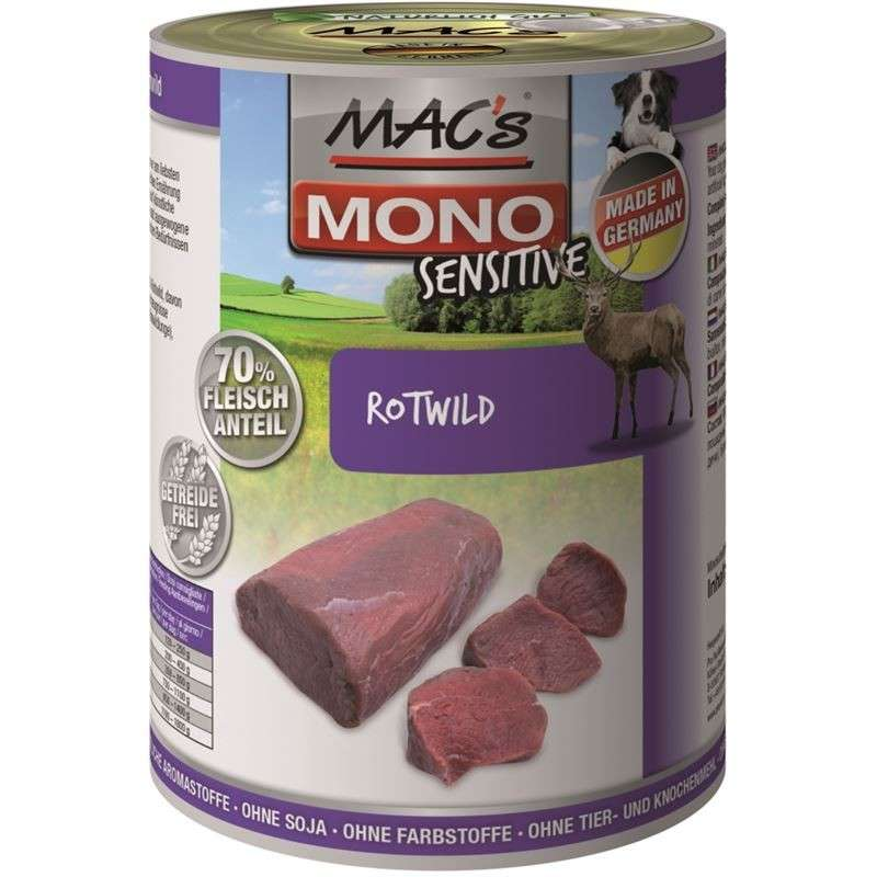 MAC's Dog Mono Sensitive - Red Deer 400 g