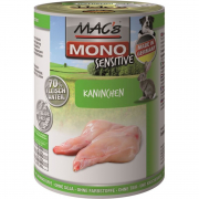 MAC'sMono Sensitive - Rabbit canned 400 g Dog food