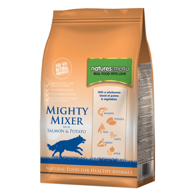 Natures Menu Mighty Mixer with Salmon & Potatoes 5027530003887 kokemuksia