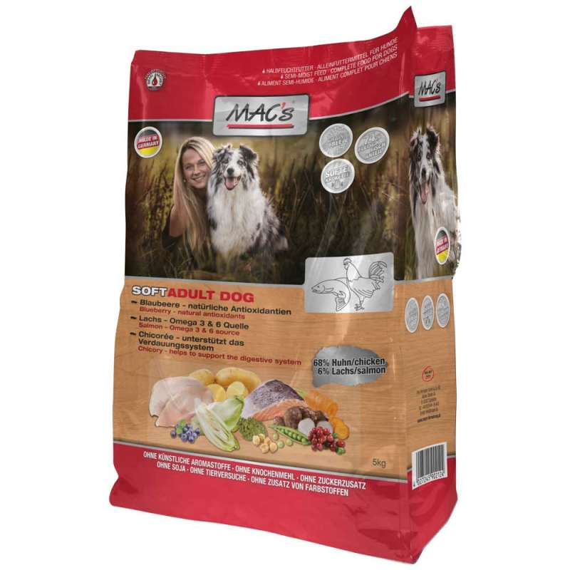 MAC's Soft Grain-free with Chicken and Salmon 1.5 kg 4027245902209 anmeldelser