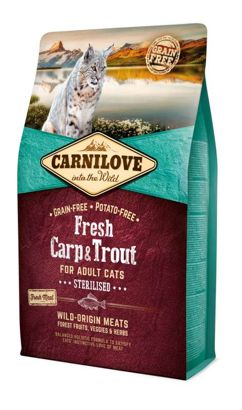 Carnilove Adult Cat Sterilised Fresh Karpfen & Forelle 6 kg, 400 g, 2 kg
