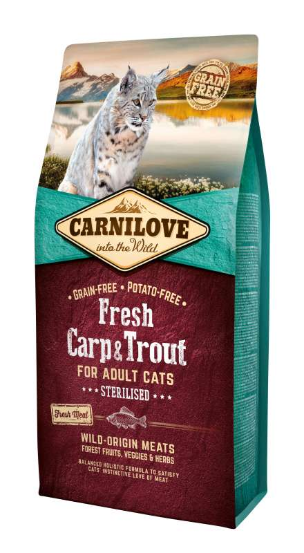 Carnilove Adult Cat Sterilised Fresh Karpfen & Forelle 6 kg
