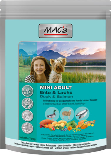 MAC's Adult Mini Duck & Salmon 750 g