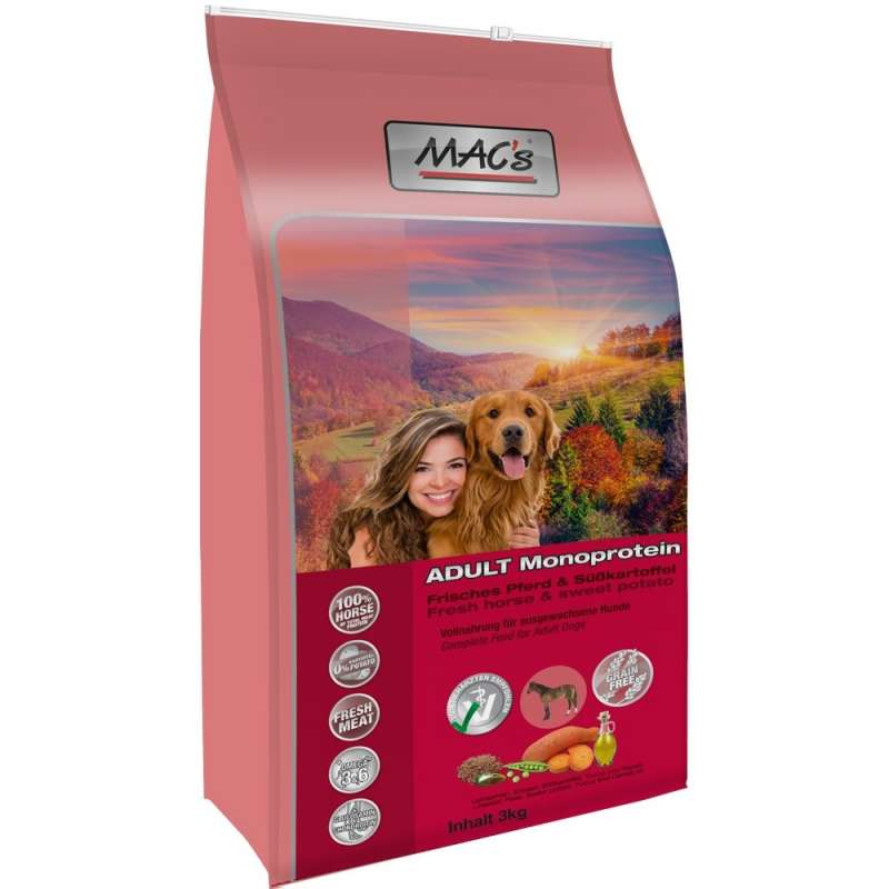 MAC's Mono Sensitive fresh Horse and sweet Potato 3 kg