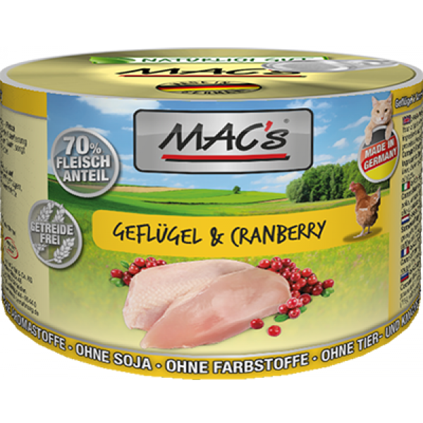 MAC's Poultry & Cranberry 800 g, 400 g, 200 g test