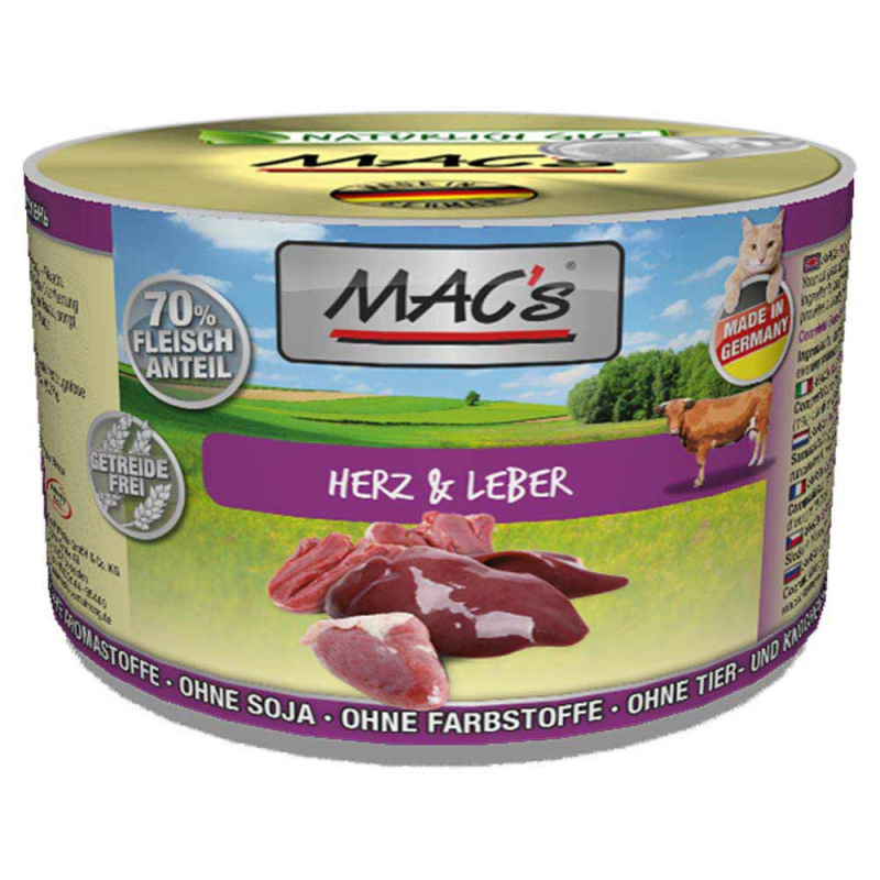 MAC's Heart & Liver 800 g, 400 g, 200 g test