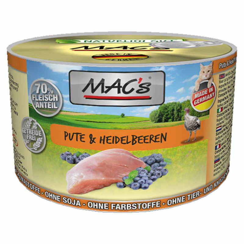 MAC's Turkey & Blueberry 800 g, 400 g, 200 g test