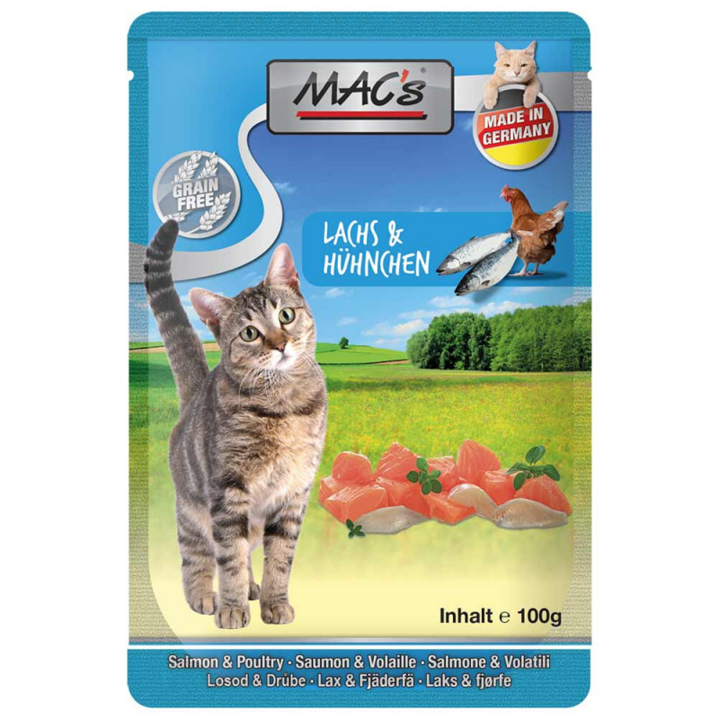 MAC's Pouch Salmon & Poultry 100 g test
