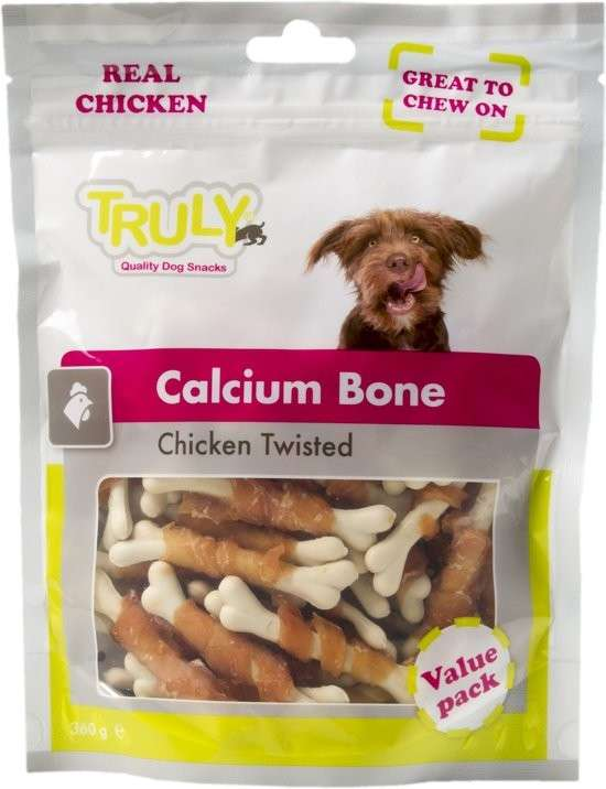Truly Calcium Bone Chicken twisted 90 g, 360 g osta edullisesti