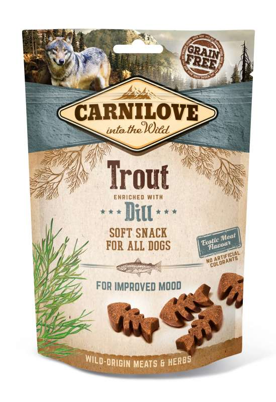 Carnilove Dog Soft Snack – Forelle mit Dill 200 g