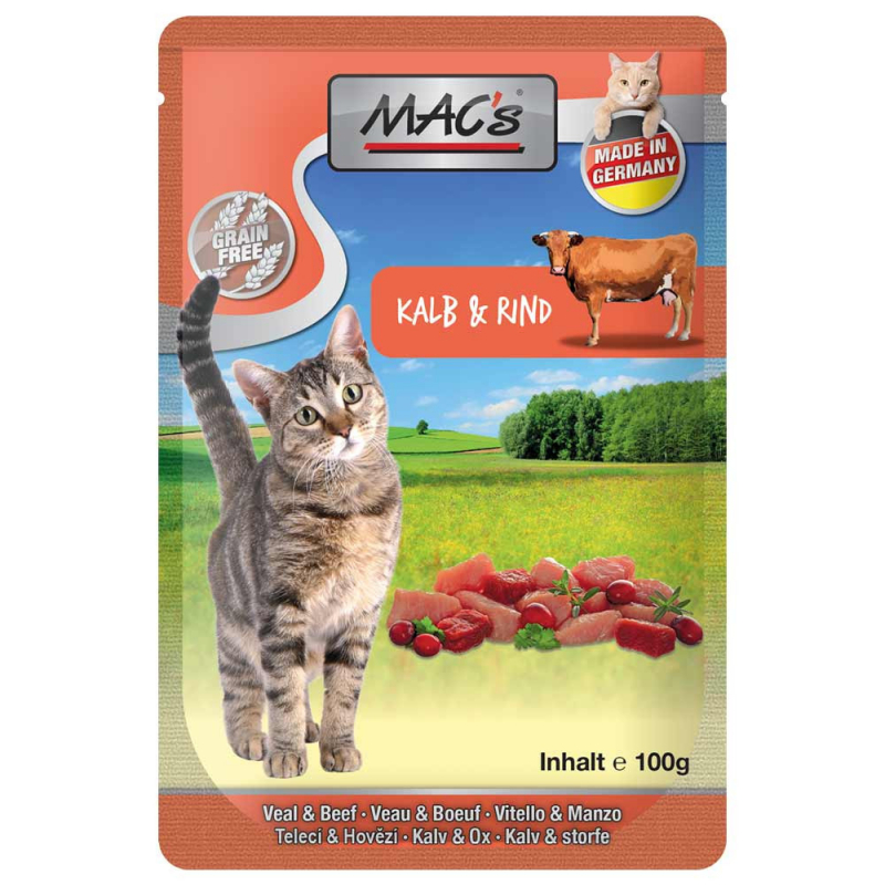 MAC's Pouch Veal & Beef with Cranberry & Herbal mix 100 g