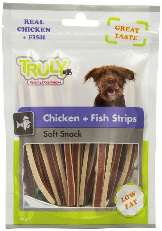 Truly Chicken + Fish Strips 90 g 8718692582040 opiniones