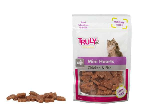 Truly Mini Hearts Chicken & Fish 50 g