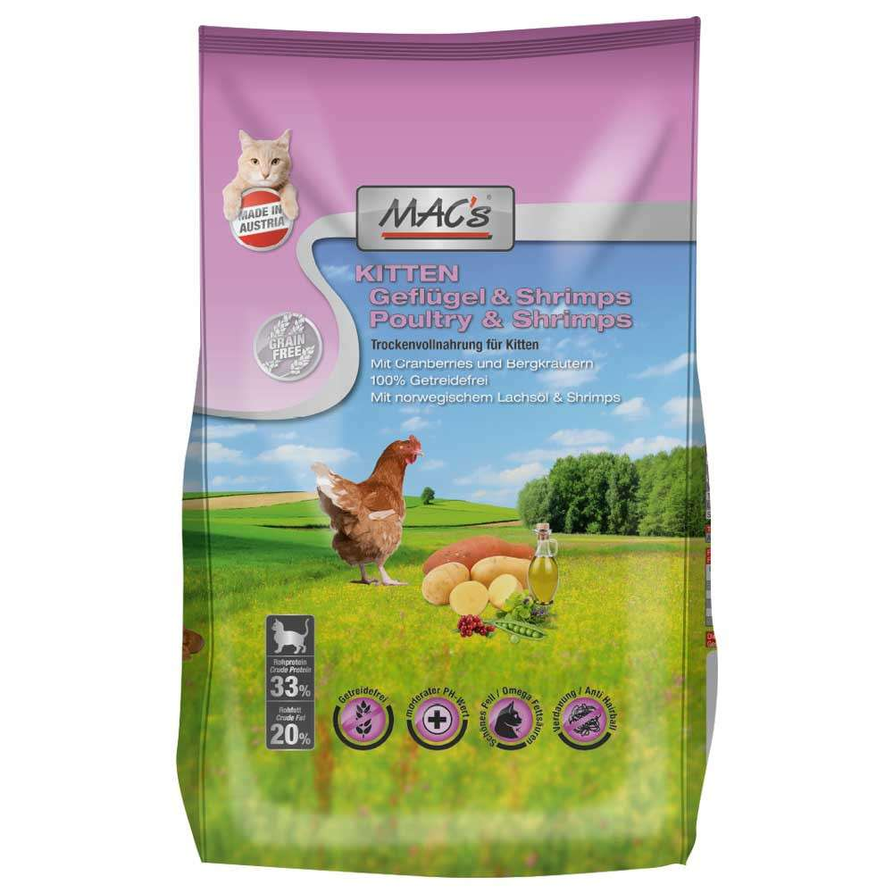 Kitten - Poultry & Shrimps by MAC's 7 kg, 300 g, 1.5 kg buy