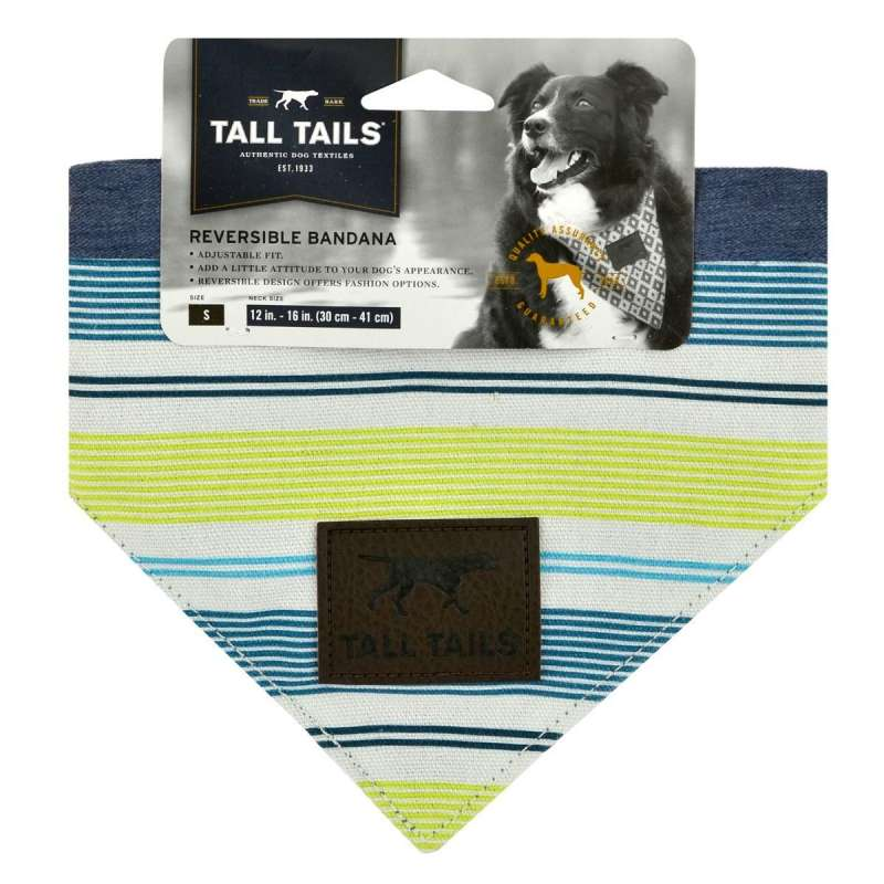 Tall Tails Reversible Bandana Printemps  S Multicolore