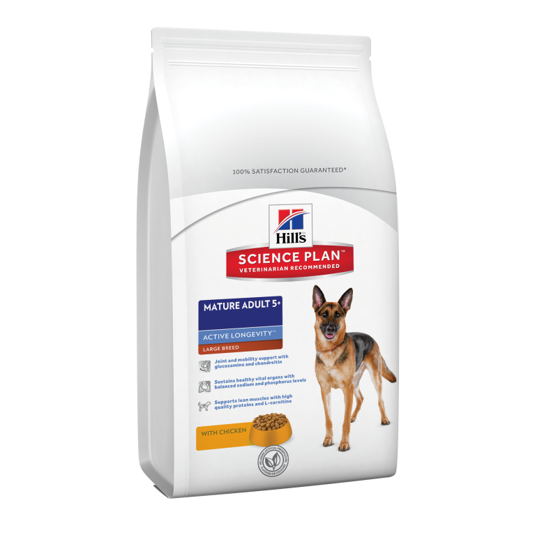 Hill's Science Plan Canine Mature Adult 5+ Active Longevity Large Breed Kip 12 kg 0052742927404