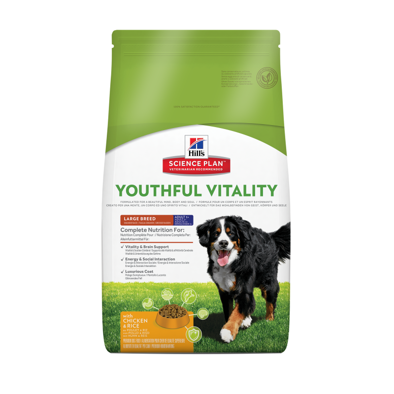 Hill's Science Plan Canine Adult 5+ Youthful Vitality Large Breed met Kip en Rijst 10 kg