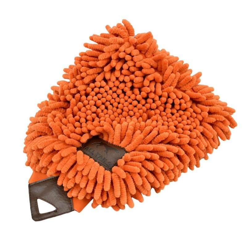 Grooming Mitt orange 25x18 cm  von Tall Tails bei Zoobio.at