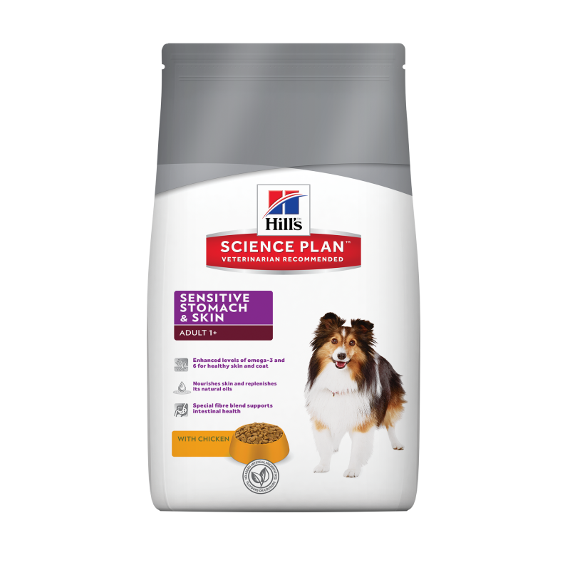Hill's Science Plan Canine Adult Sensitive Stomach & Skin con Pollo 12 kg