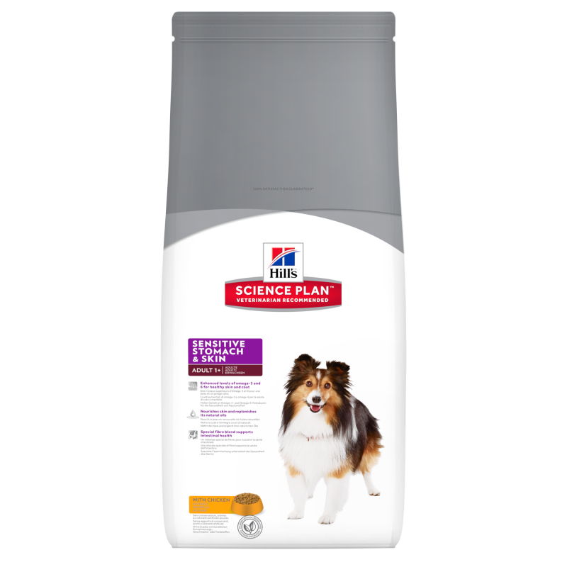 Hill's Science Plan Canine Adult Sensitive Stomach & Skin con Pollo 3 kg 0052742017310 opiniones