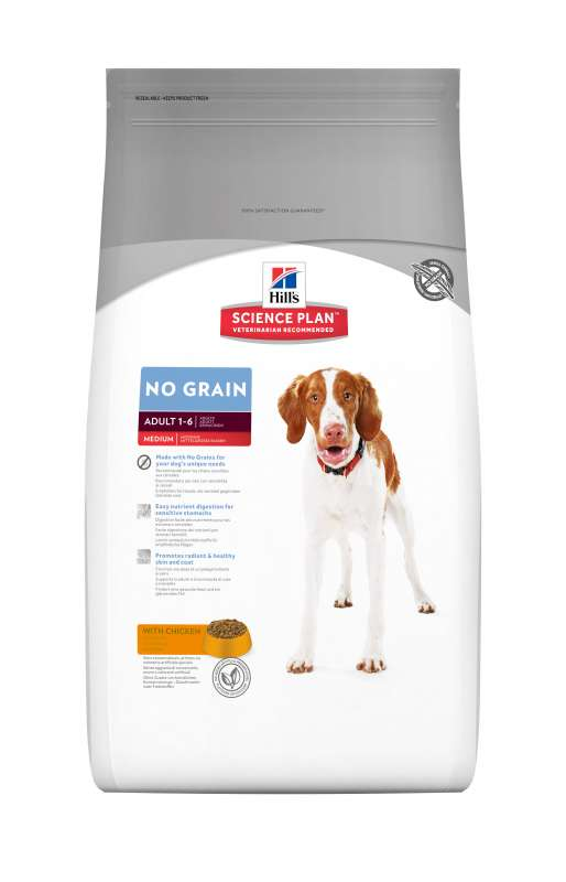 Hill's Science Plan Canine Adult No Grain Medium med Kyckling 0052742011332 erfarenheter